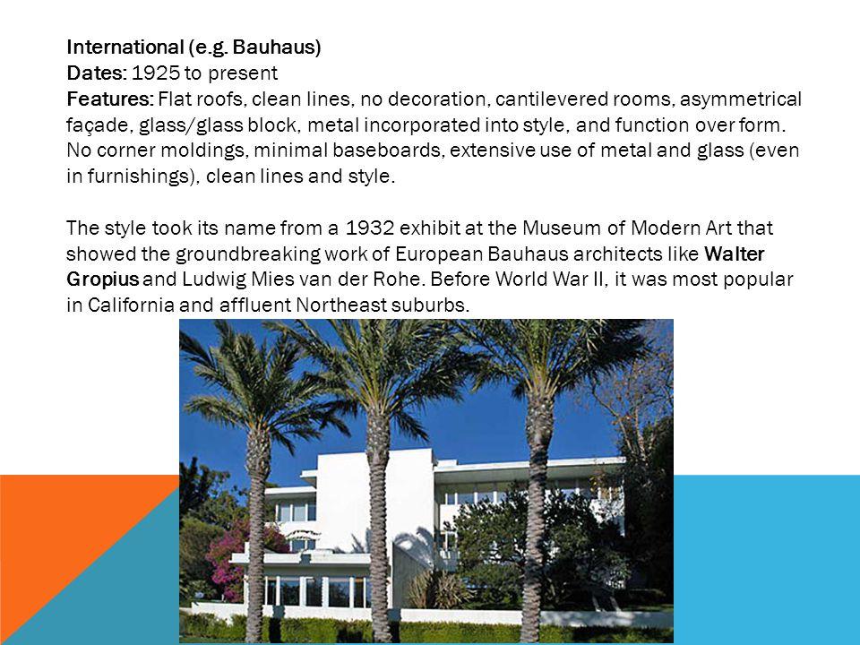 International (e.g. Bauhaus)