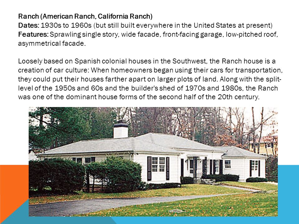 Ranch (American Ranch, California Ranch)