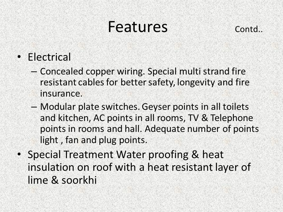 Features Contd.. Electrical