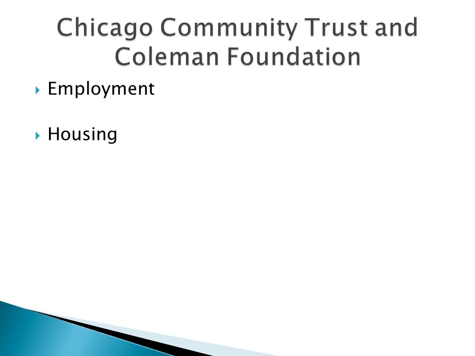 Chicago Community Trust and Coleman Foundation