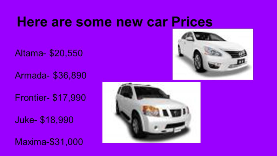 Here are some new car Prices