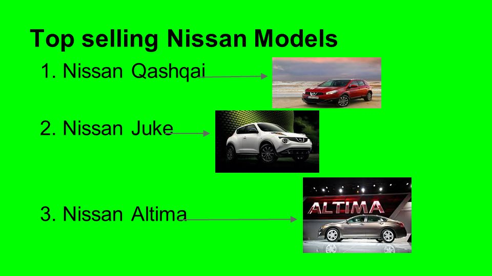 Top selling Nissan Models