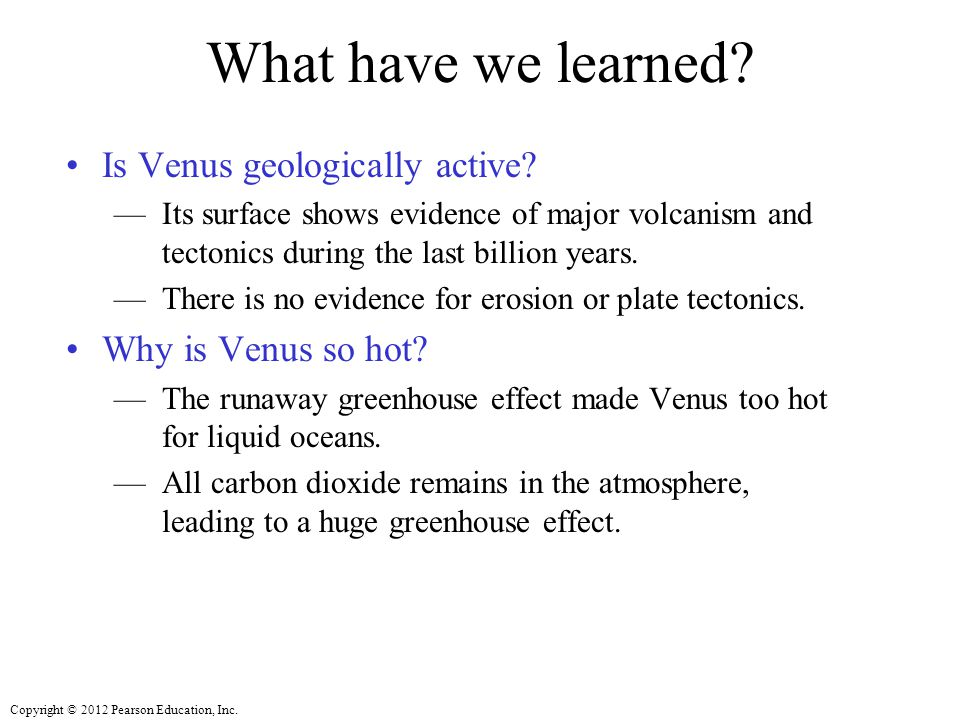 What have we learned Is Venus geologically active