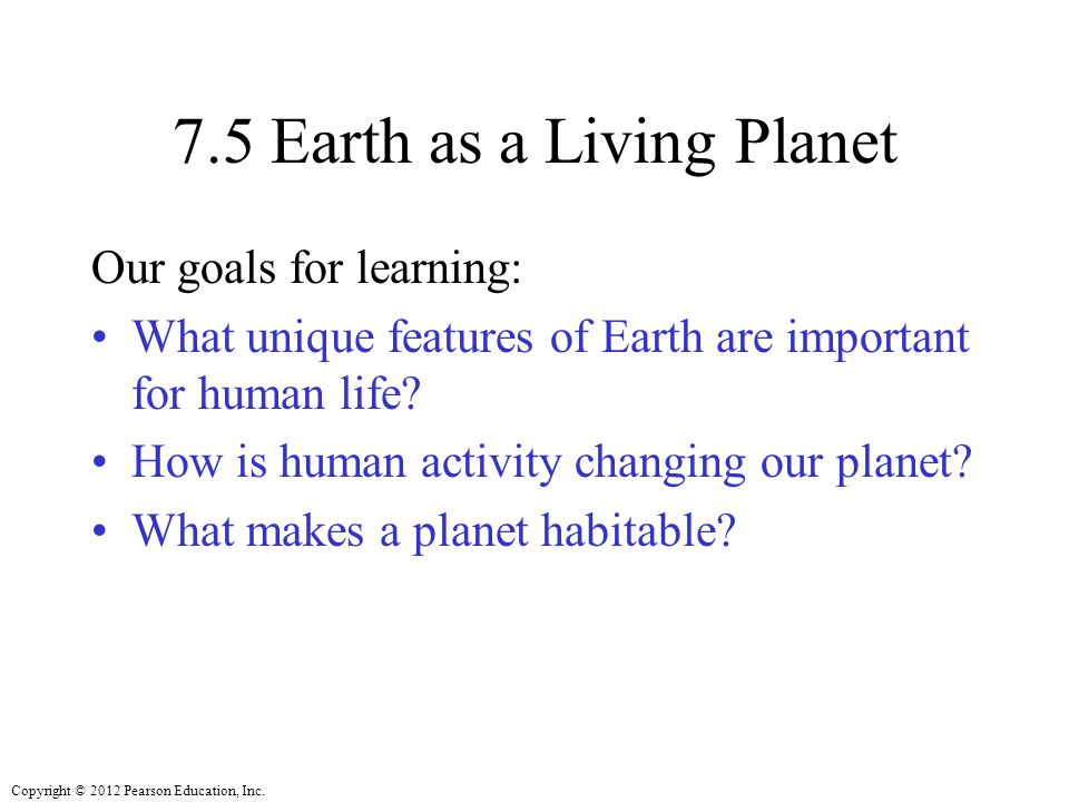 7.5 Earth as a Living Planet