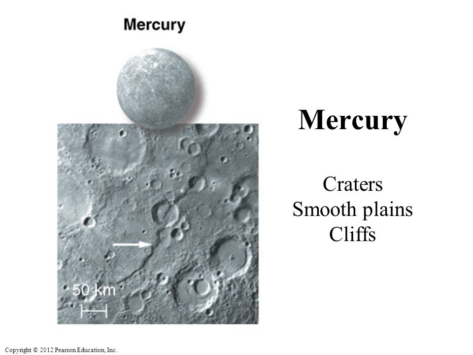 Mercury Craters Smooth plains Cliffs