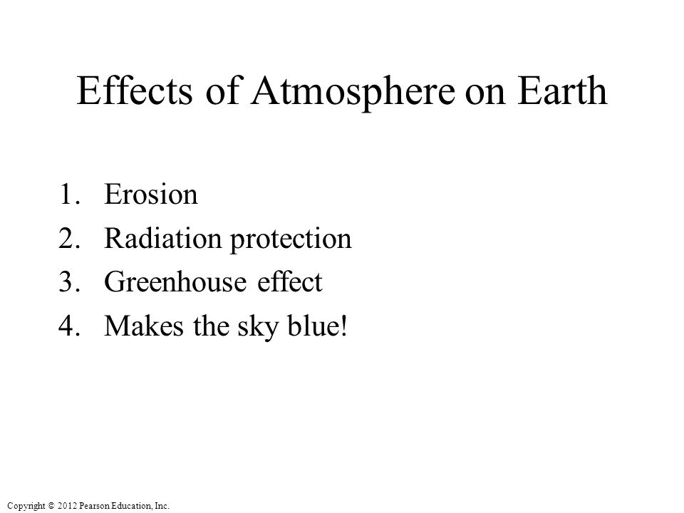 Effects of Atmosphere on Earth