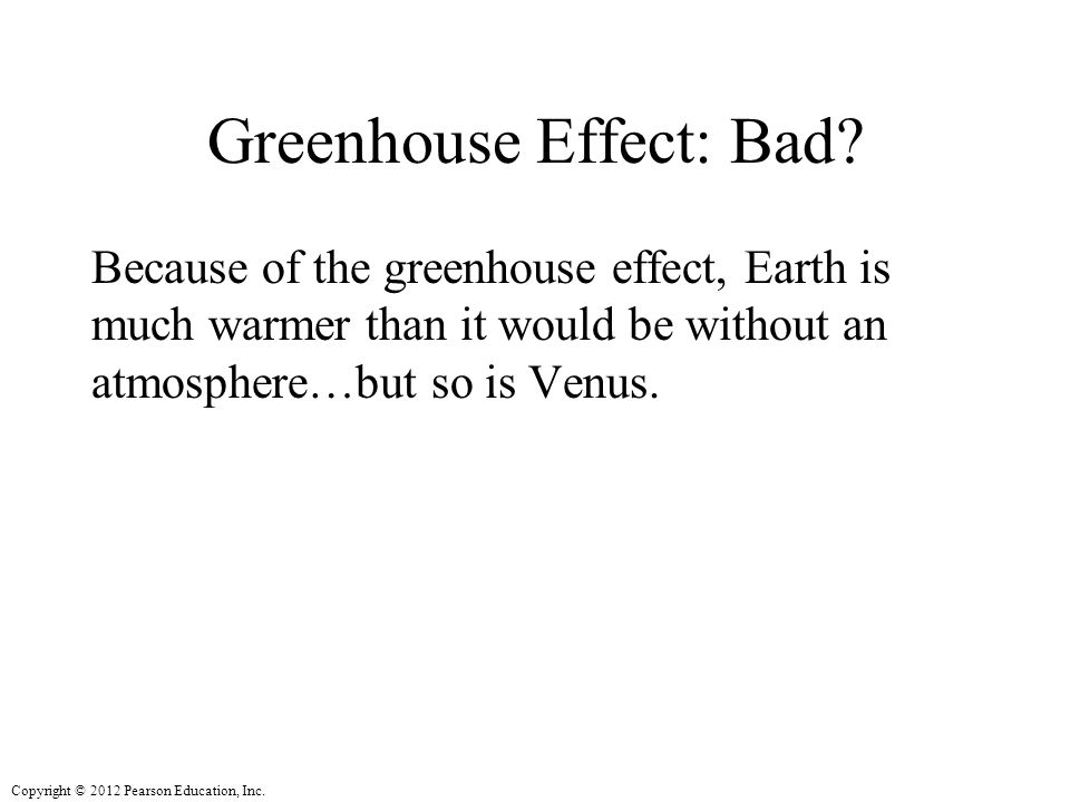 Greenhouse Effect: Bad