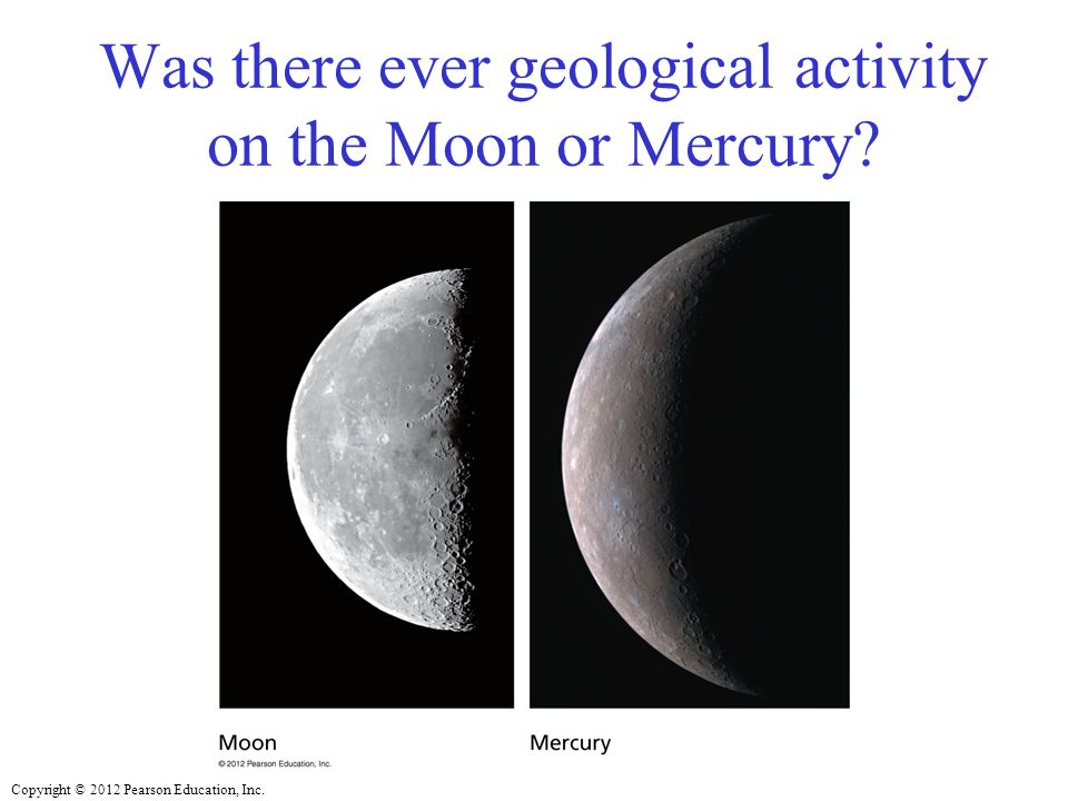 Was there ever geological activity on the Moon or Mercury