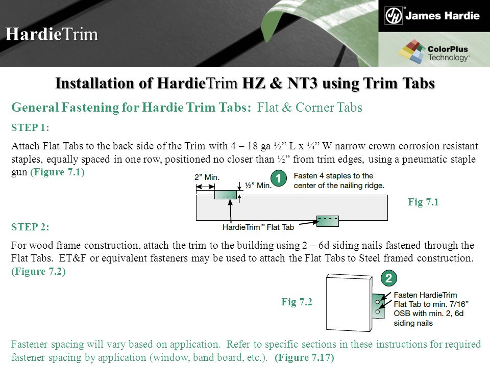 Installation of HardieTrim HZ & NT3 using Trim Tabs