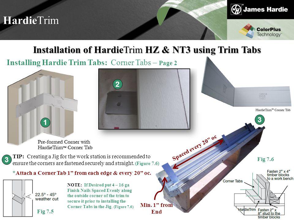 Installation of HardieTrim HZ & NT3 using Trim Tabs