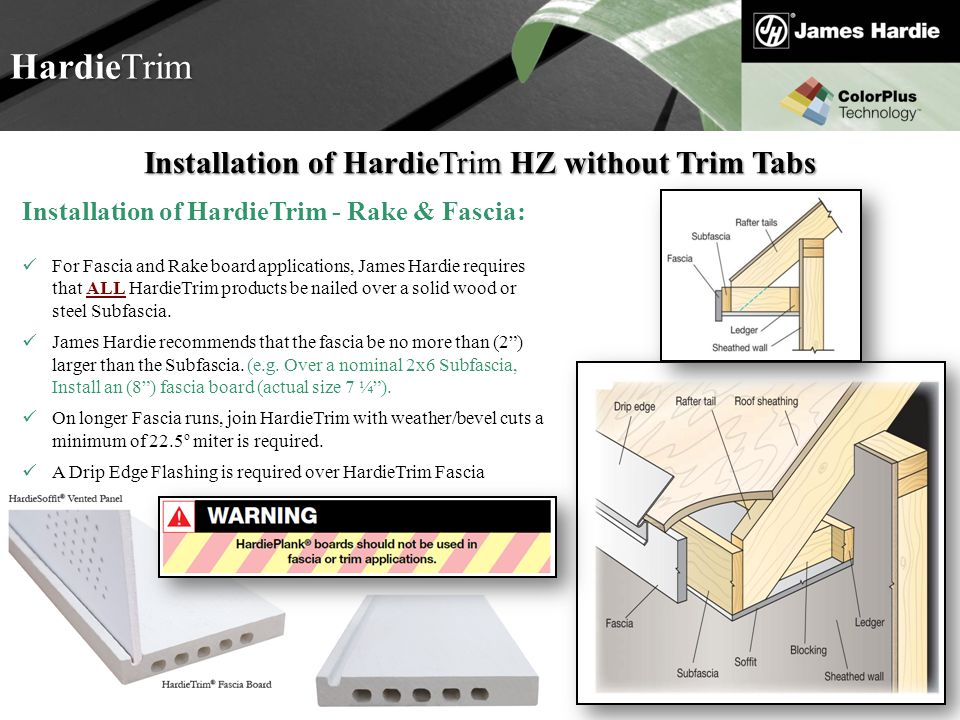 Installation of HardieTrim HZ without Trim Tabs