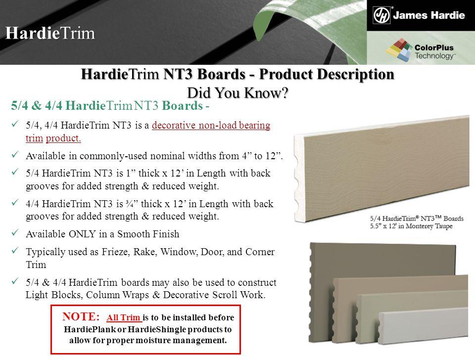 HardieTrim NT3 Boards - Product Description