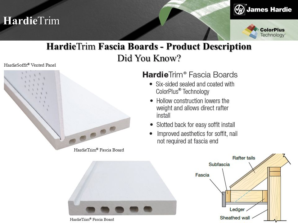 HardieTrim Fascia Boards - Product Description