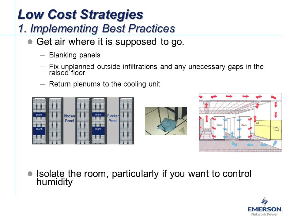 Low Cost Strategies 1. Implementing Best Practices