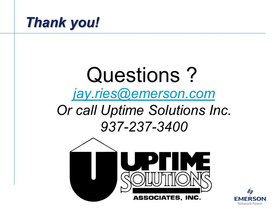 Or call Uptime Solutions Inc.