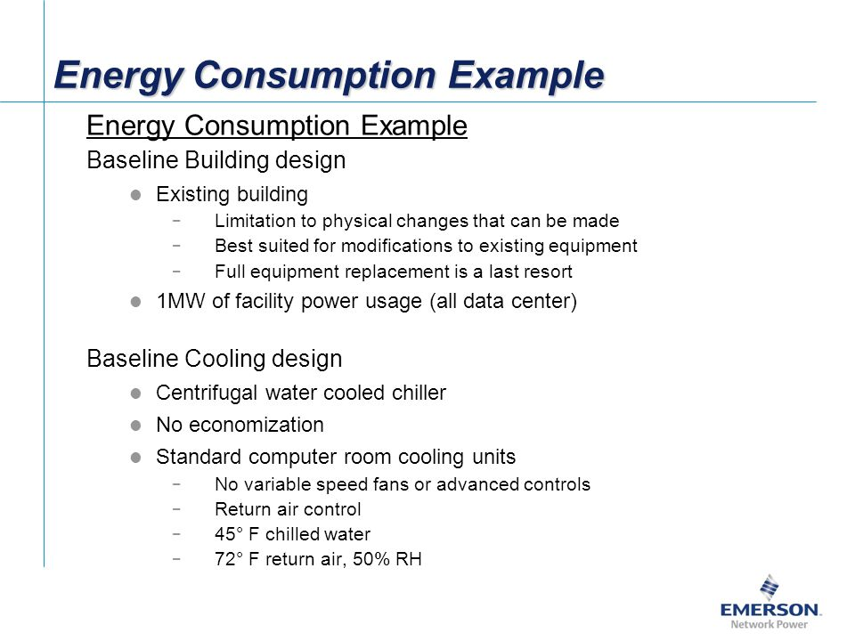 Energy Consumption Example