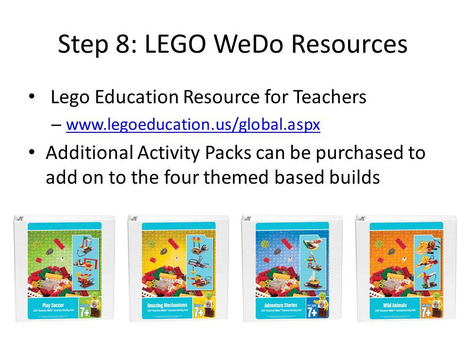 Step 8: LEGO WeDo Resources