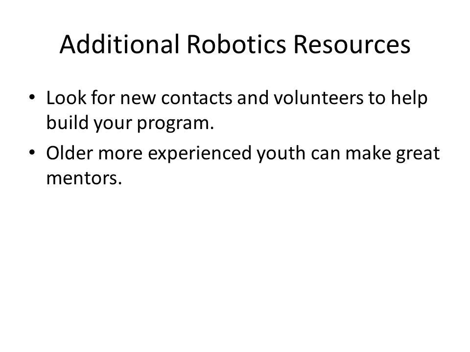 Additional Robotics Resources