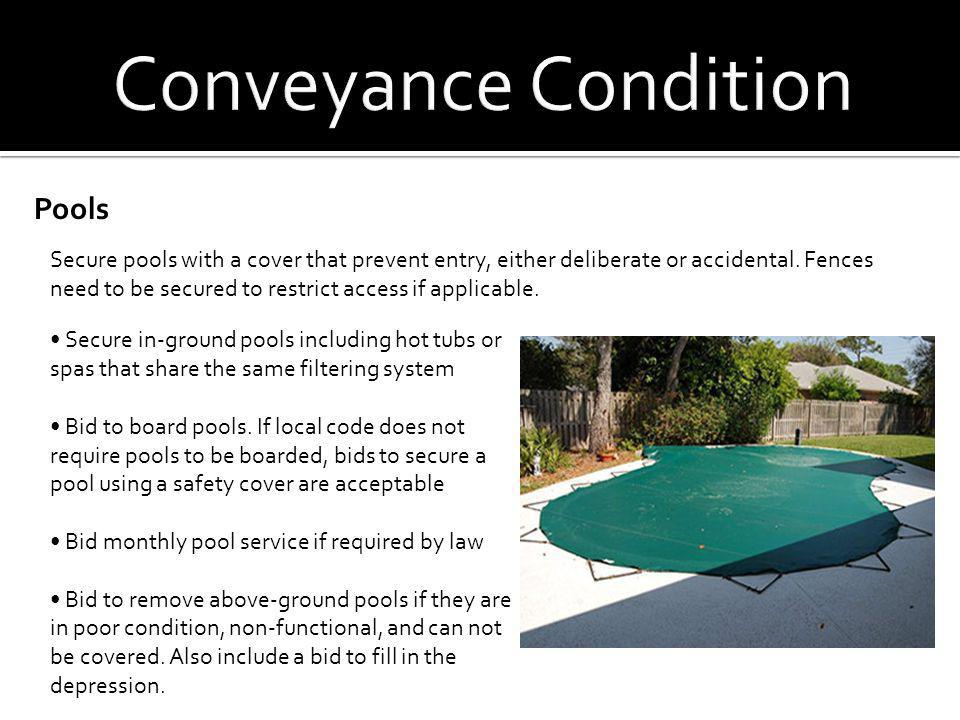 Conveyance Condition Pools