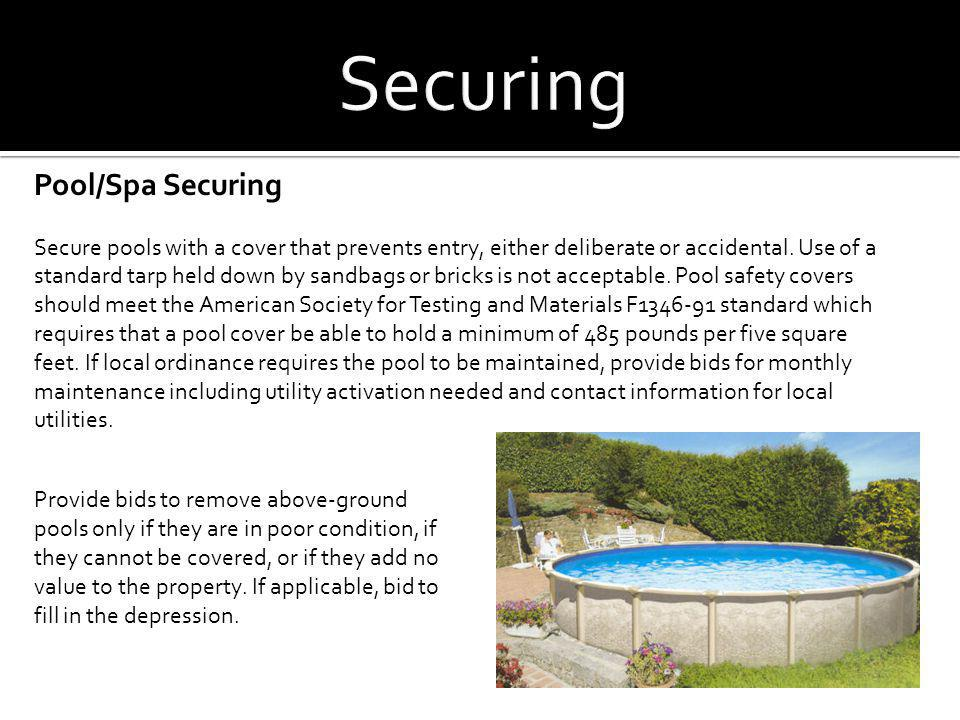 Securing Pool/Spa Securing