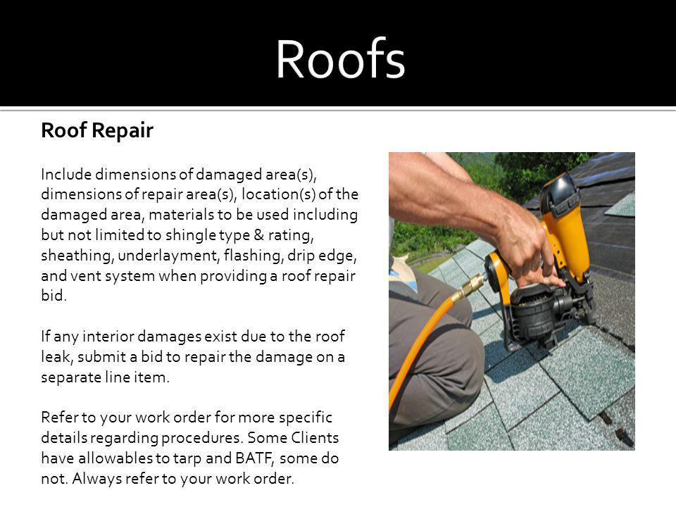 Roofs Roof Repair.