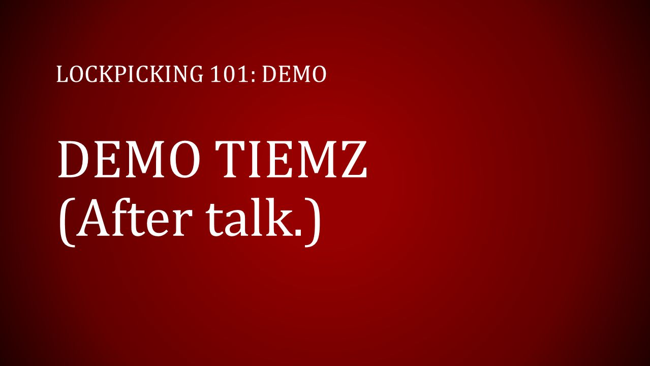 DEMO TIEMZ (After talk.)