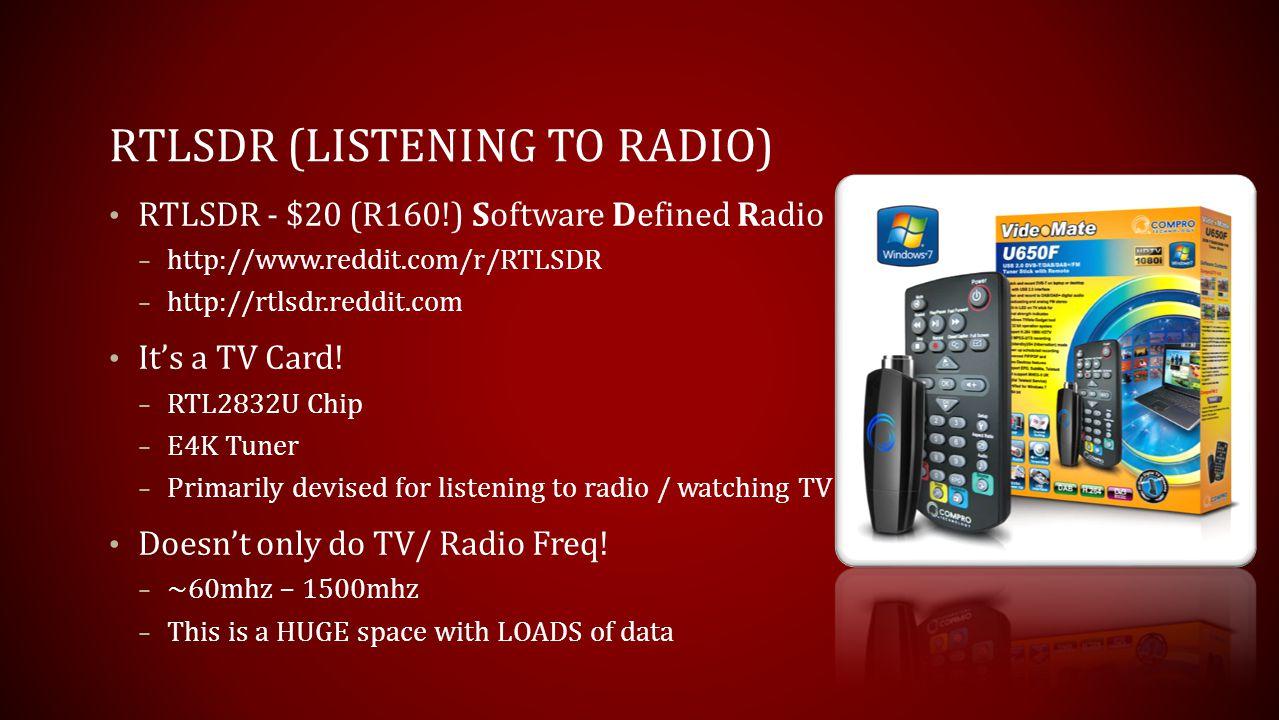 RTLSDR (Listening to Radio)