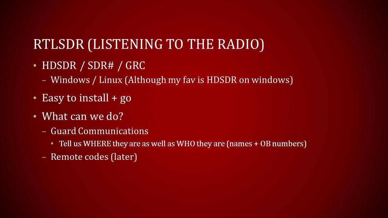 RTLSDR (Listening to the radio)