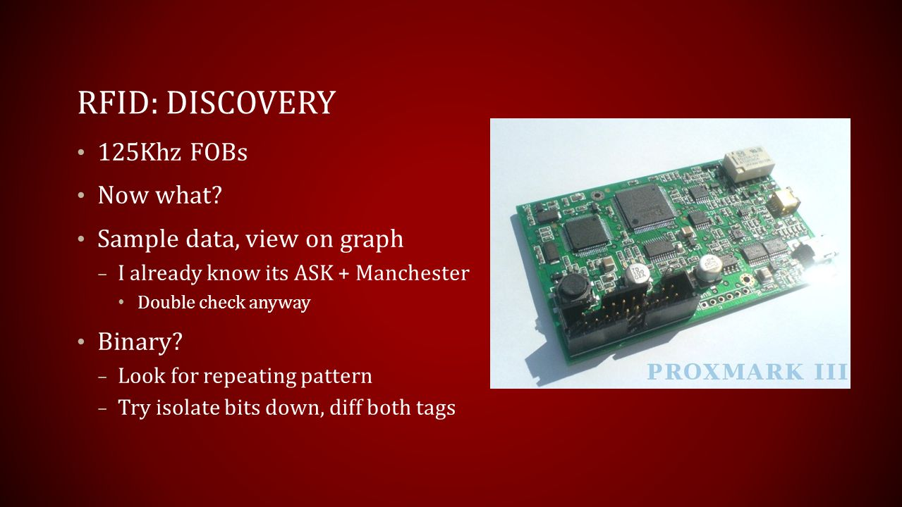 RFID: Discovery 125Khz FOBs Now what Sample data, view on graph