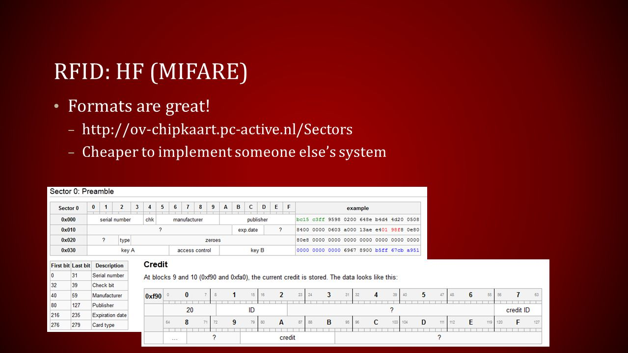 RFID: HF (mifare) Formats are great!