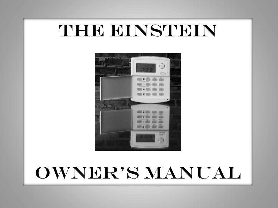 THE EINSTEIN OWNER'S MANUAL
