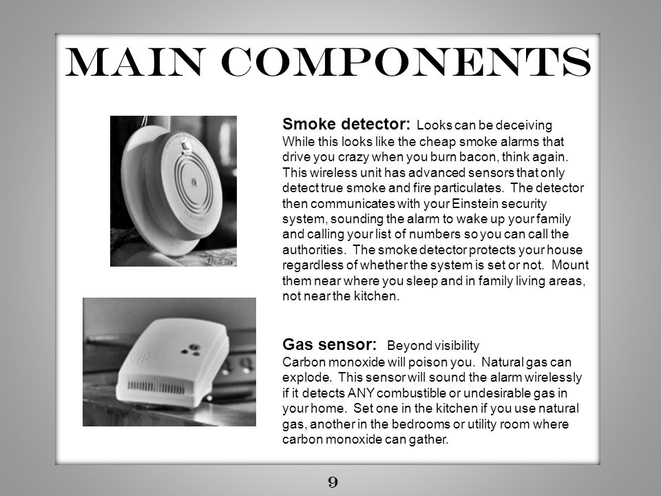 Main components Smoke detector: Looks can be deceiving