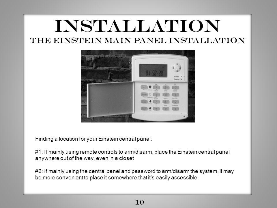 The Einstein Main Panel installation