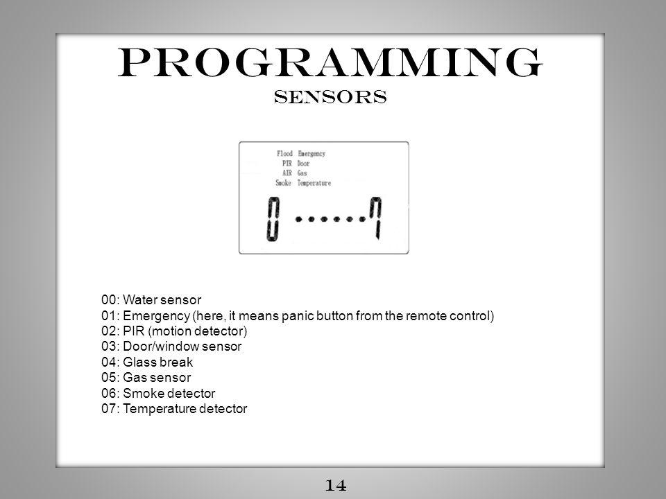 Programming Sensors 14 00: Water sensor