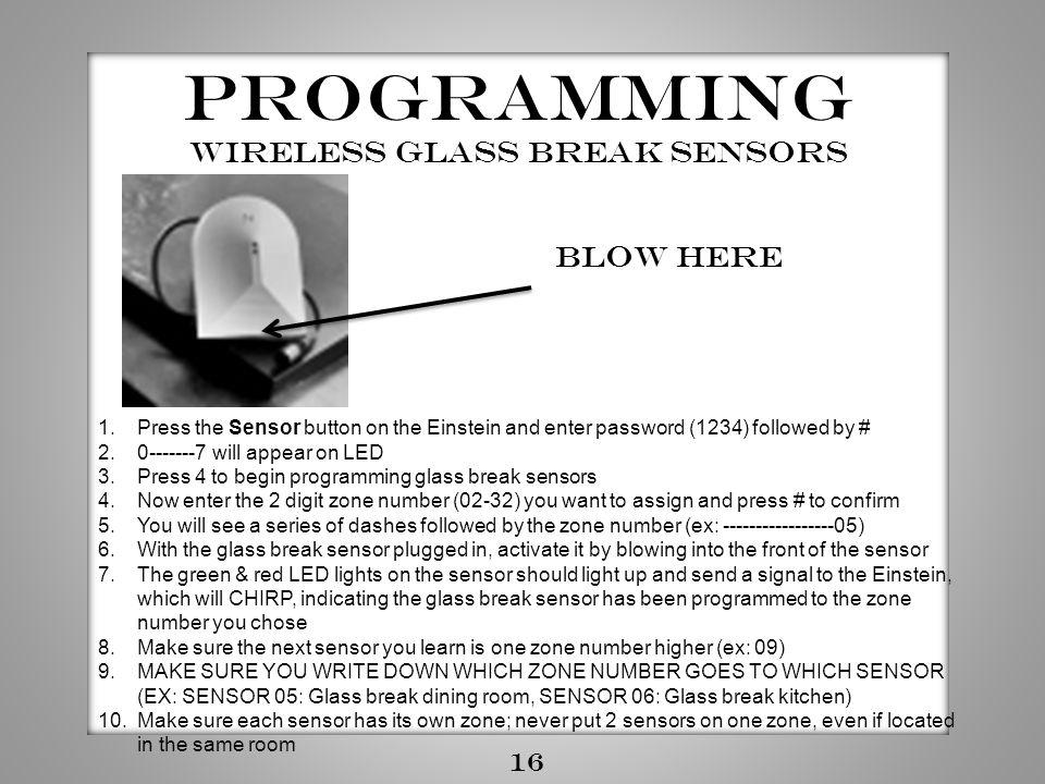 wireless Glass Break sensors