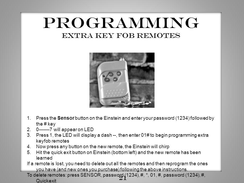 Programming Extra Key fob Remotes 21