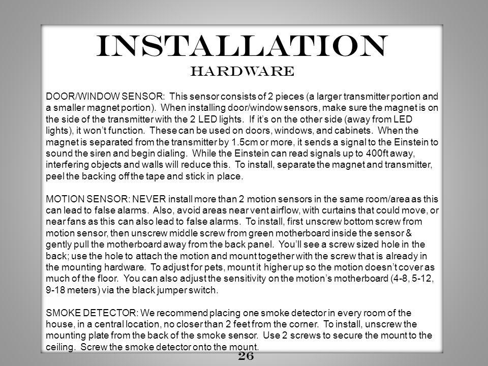 Installation Hardware 26
