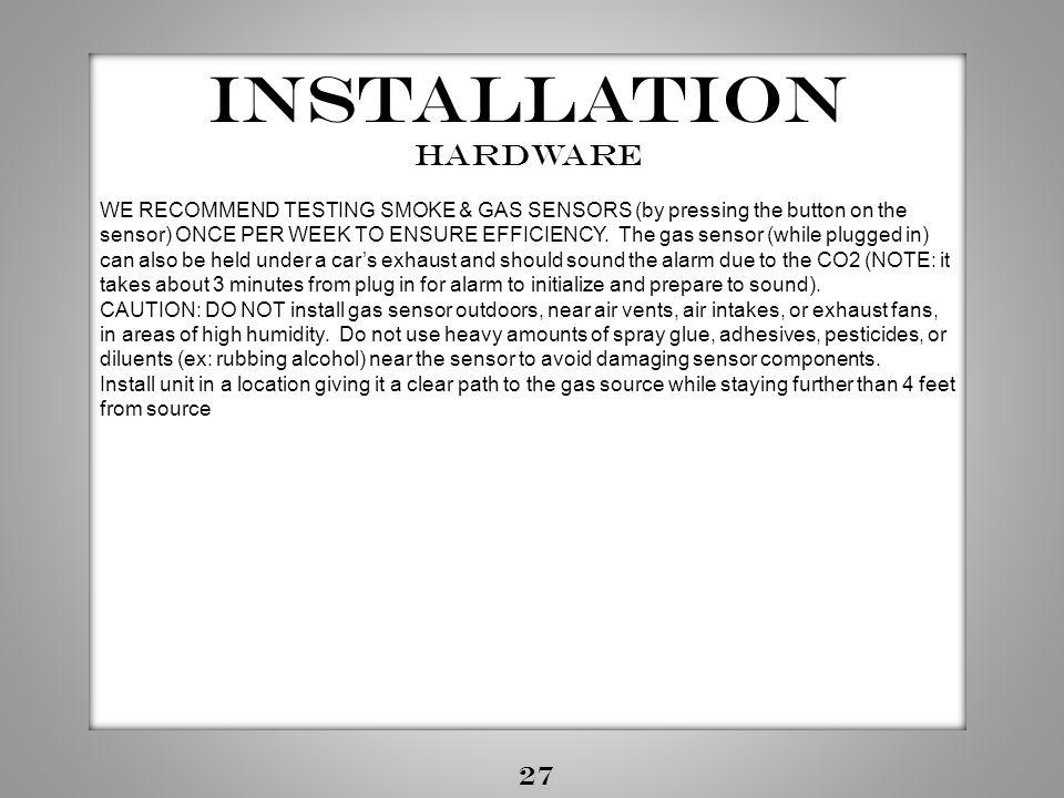 Installation Hardware 27