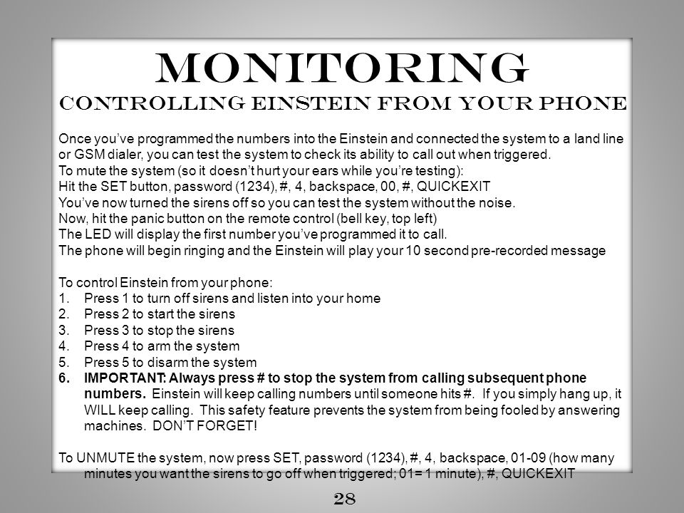 Controlling Einstein from your phone
