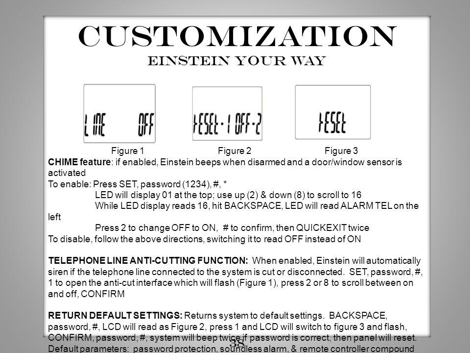 Customization Einstein your way 38 Figure 1 Figure 2 Figure 3