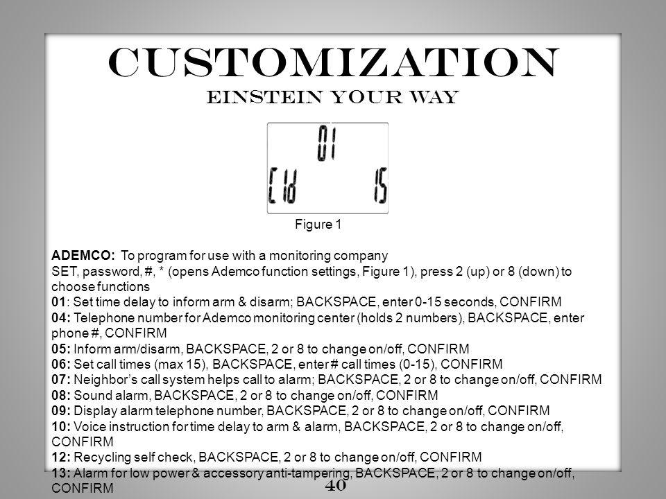 Customization Einstein YOUR way 40 Figure 1