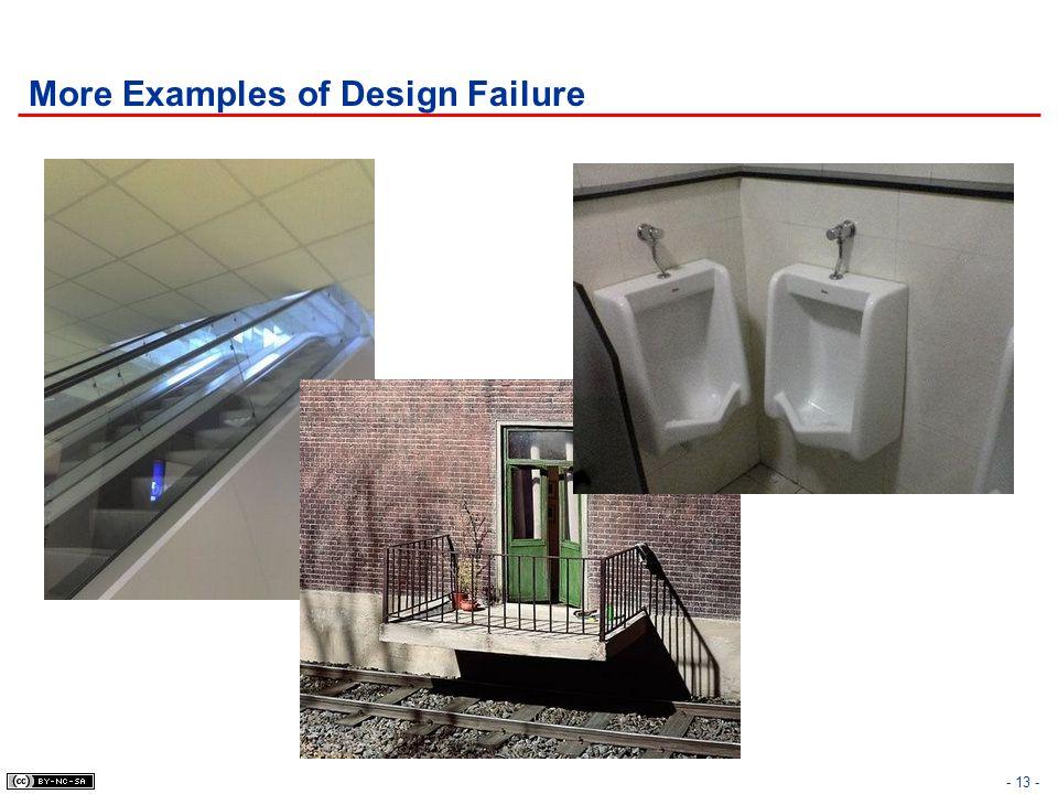 More Examples of Design Failure