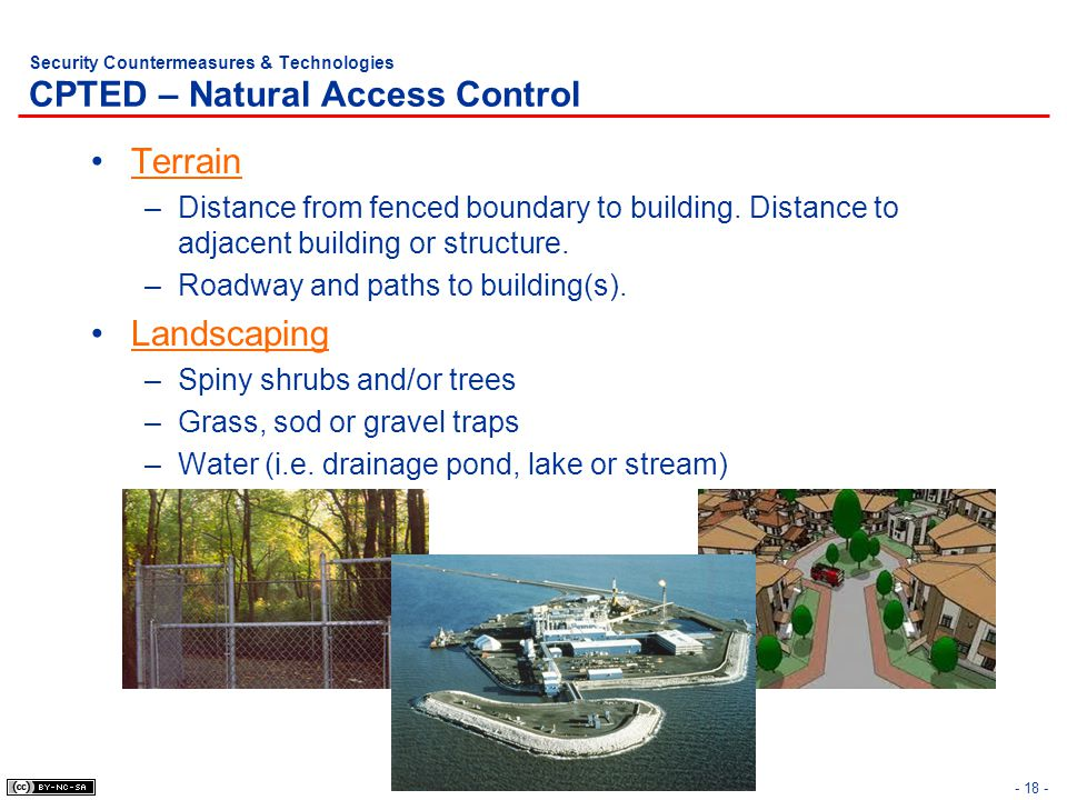 Security Countermeasures & Technologies CPTED – Natural Access Control