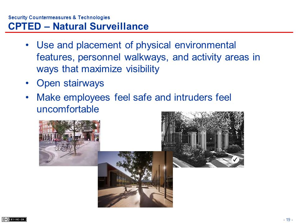 Security Countermeasures & Technologies CPTED – Natural Surveillance