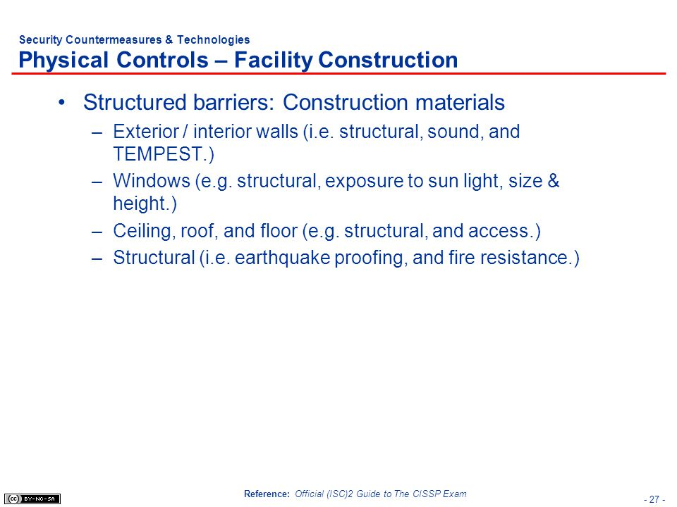 Structured barriers: Construction materials