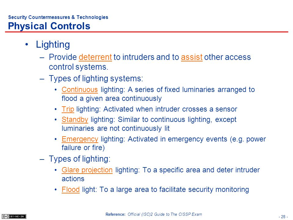 Security Countermeasures & Technologies Physical Controls