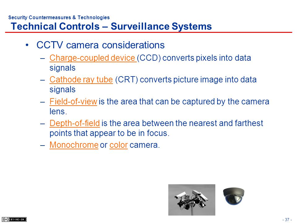 CCTV camera considerations