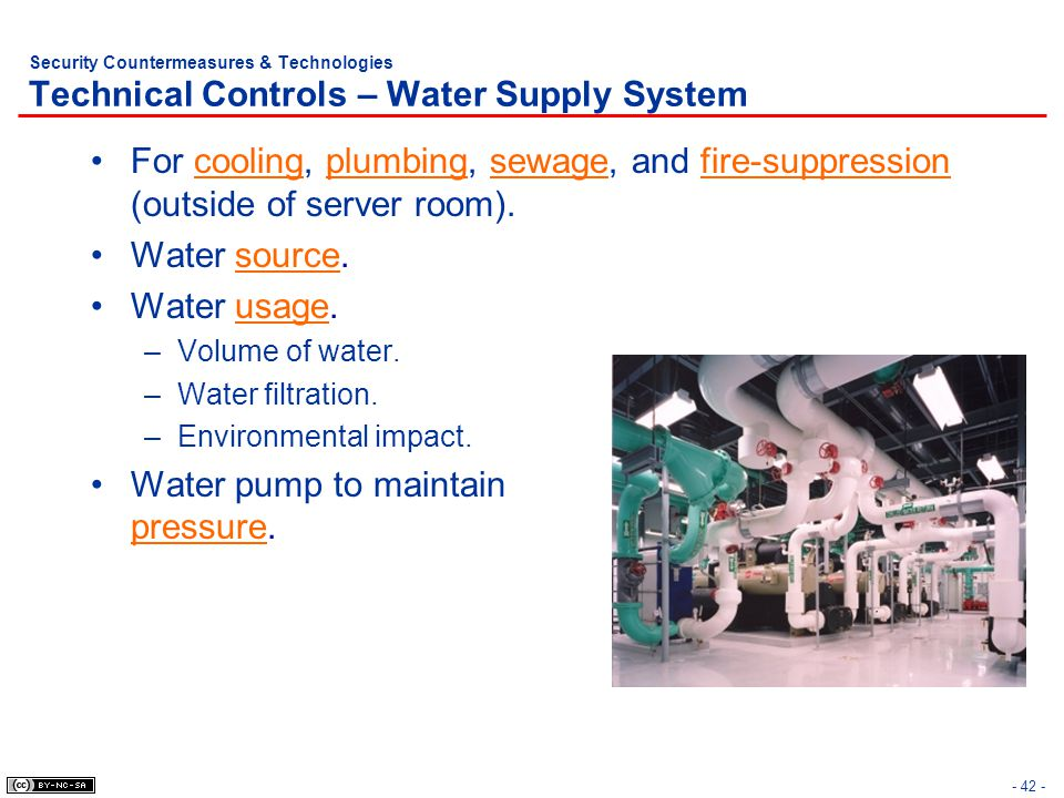 Water pump to maintain pressure.
