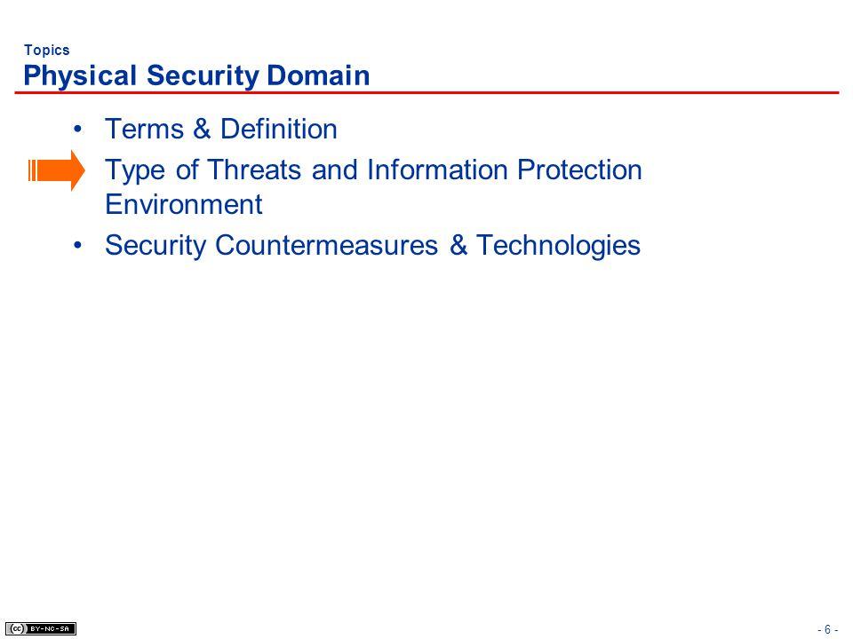 Topics Physical Security Domain