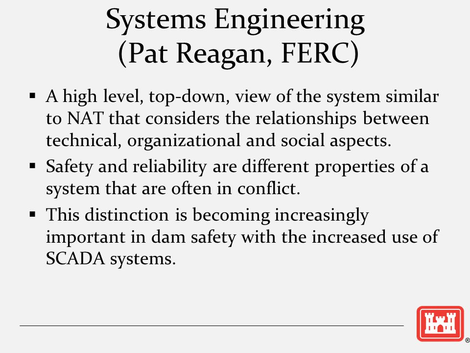 Systems Engineering (Pat Reagan, FERC)